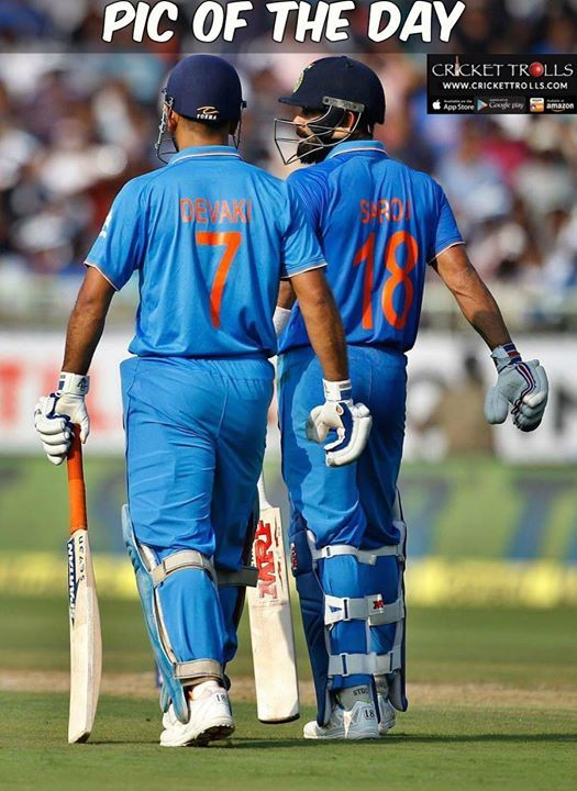 #TeamIndia #MSDhoni #5thODI #INDvsNZ #ViratKohli Admit it this pic won million of hearts today! - http://ift.tt/1ZZ3e4d