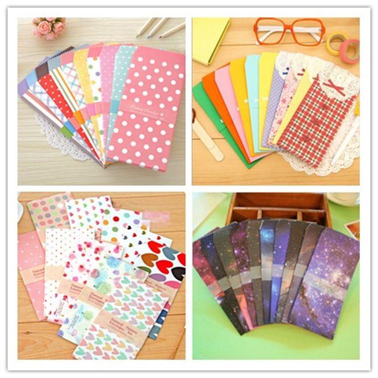 5 pcs/bag Baru Lucu Kartun Kawaii Kertas Colorful Dot Bintang Kartu Amplop untuk Hadiah Bayi Korean Stationery Gratis pengiriman 808