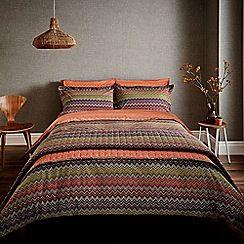 Harlequin - dark purple 'Chevron' bed linen set