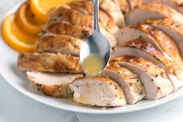 ORANGE HERB ROASTED TURKEY BREAST RECIPE: ~ From: Inspired Taste.Com ~ You will need  a 6 1/2- to 7-pound bone-in turkey breast. Make sure it's completely thawed. ~ Roast the turkey breast in a 325-degree F oven for 1 1/2 to 2 hours. The meat will be moist and juicy and the skin golden brown.