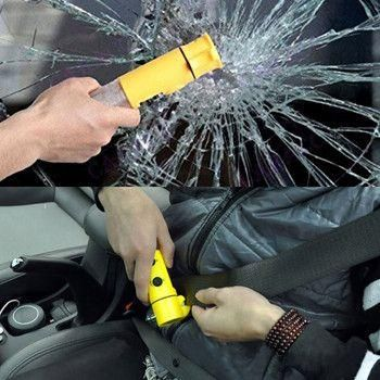 You wouldn't survive in a snowstorm without a jacket, so why would you go on a road trip without a car escape multitool? Be prepared for most car emergencies with this travel multitool kit. Combining