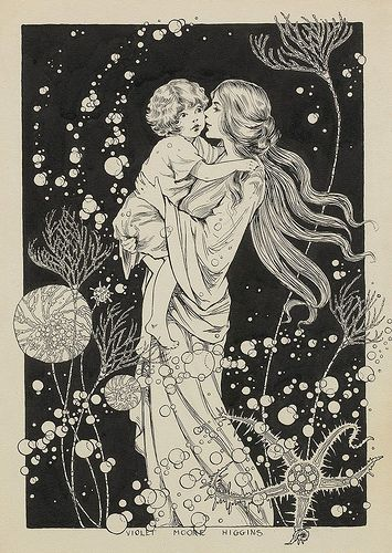 """Three days agone, I found a tiny fair-haired infant"" by Violet Moore Higgins (American, 1886–1967)"