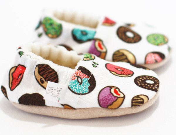 Sprinkled Donuts Soft Sole Baby Shoes. Omg.