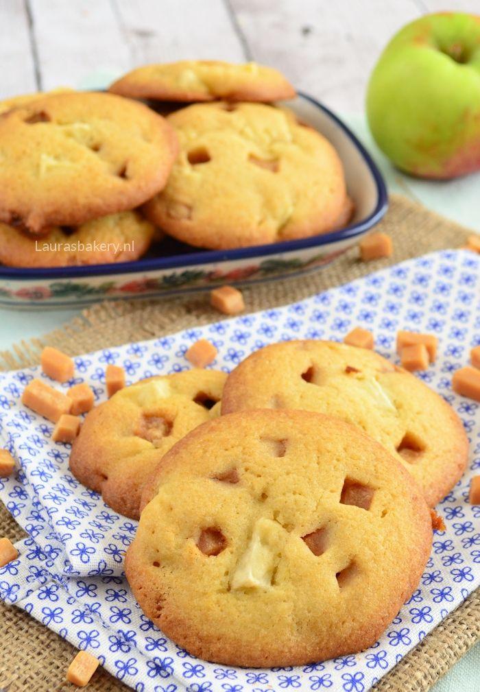 Apple caramel cookies - Appel-karamel koekjes - Laura's Bakery