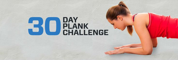 Increase your core strength and get toned abs with this 30 Day Plank Challenge.