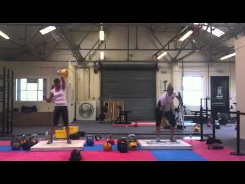 Laura & abi 16kg snatch-competition sets.  World record from Abi with 275 reps with 16kg kettlebell