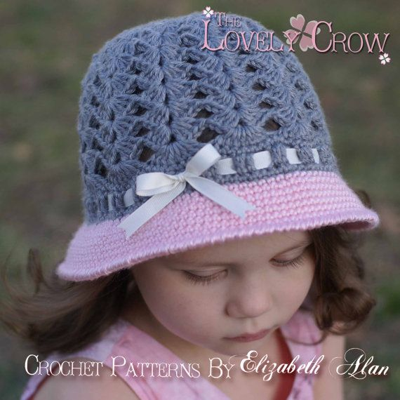 Girl Hat Crochet Pattern for My ANGEL BABY Cloche by TheLovelyCrow, $5.95