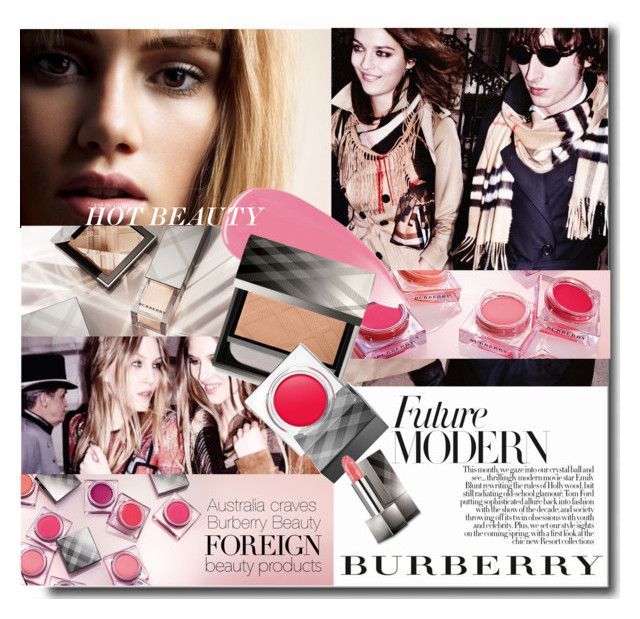 """""""#Foreign Beauty - Australia Craves Burberry Beauty"""" by nikkisg ❤ liked on Polyvore featuring Belleza, Burberry y ForeignBeauty"""