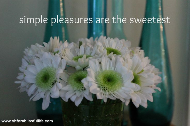 Simple pleasures are the sweetest