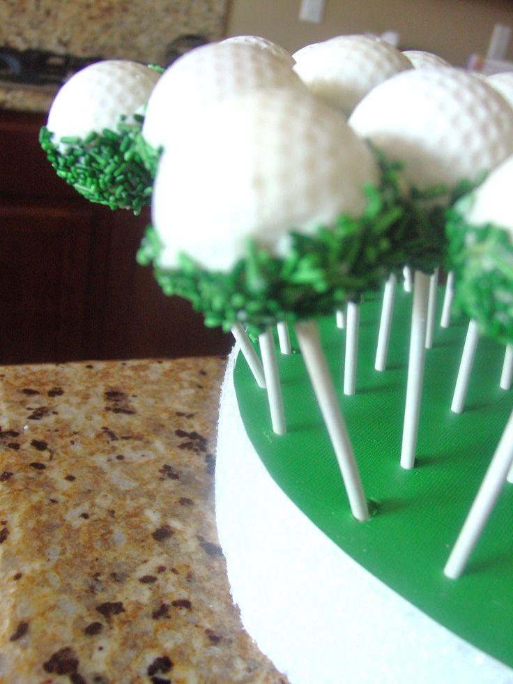 Golf Ball Cake Pops Green Grass Ro