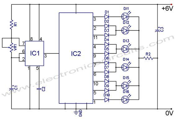 Ic 4017 Circuit Diagram | Circuit Diagram 4017 Wiring Diagram