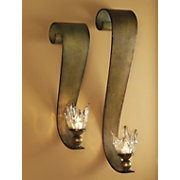 Ribbon Swirl Wall Sconce Set