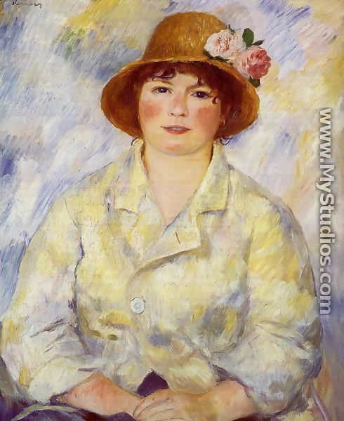 Aline Charigot (future Madame Renoir) - Pierre Auguste Renoir