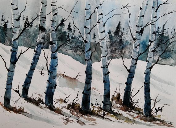 Check out this item in my Etsy shop https://www.etsy.com/listing/286118749/watercolor-landscape-paintingbirch-tree