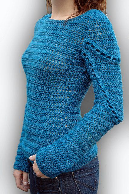 One of my favorite #crochet sweaters is the Peacock Sweater pattern by Linda Skuja ♪ ♪ ... #inspiration_crochet #diy GB . Pullover #pullover #newclothes #sweater #watsonlucy723 # jamesfaith712 #womenfashion <3 www.2dayslook.com