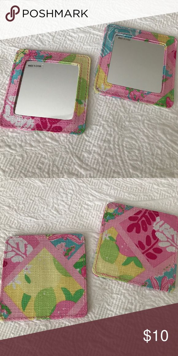 """NEW Lilly Pulitzer for Estée Lauder Travel Mirror There are two mirrors available. $10 each. Brand new / never used. Plastic protection sheet still on. 3.5"""" X 3.5"""". Perfect size to carry with you in your purse on the go! Lilly Pulitzer Makeup"""
