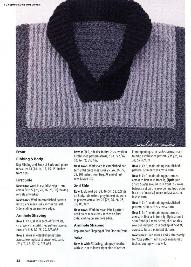 Mejores 7 imágenes de sweater en Pinterest   Patrones de ganchillo ...