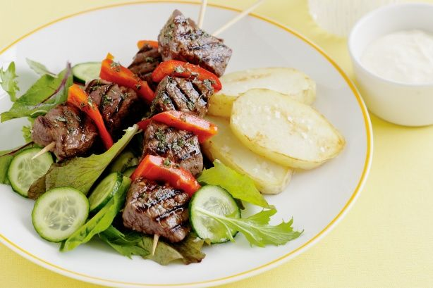Lamb skewers with lemon - Is there a better way to celebrate Australia Day than with a barbecue?