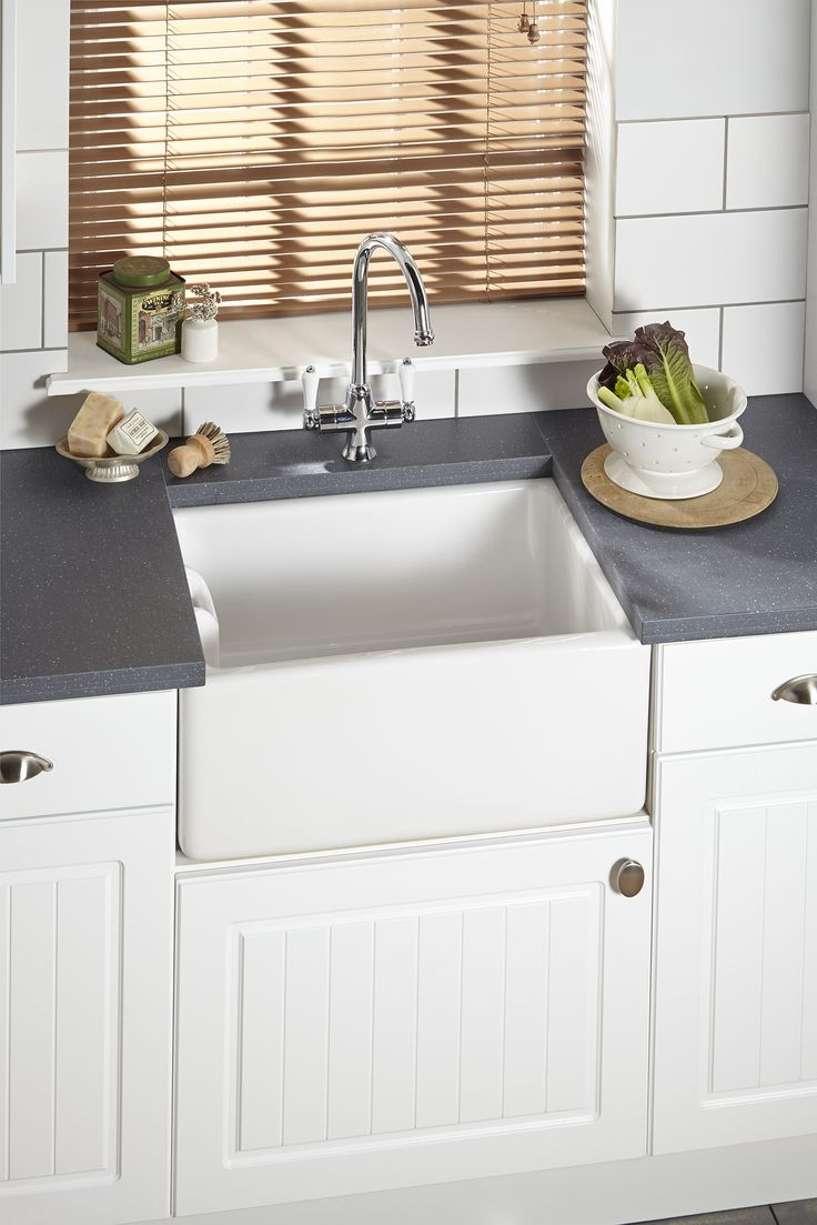 It's all about the sink. And when it comes to a classic country style kitchen, then it has to be a Belfast sink. Pair with a wooden worktop to continue the country theme or a dark grey or black worktop to add contrast to your kitchen design.