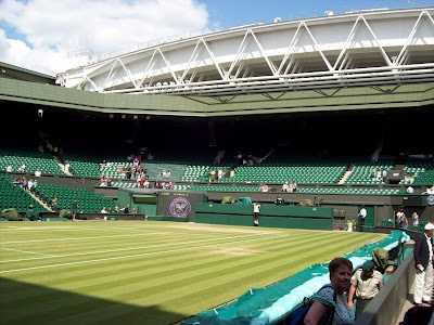 Wimbledon Centre Court. With tea and strawberries with cream scones in my Aunts family room!