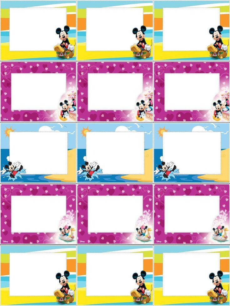 Laminas Para Crear Etiquetas Infantiles Tarjetas Para Imprimir