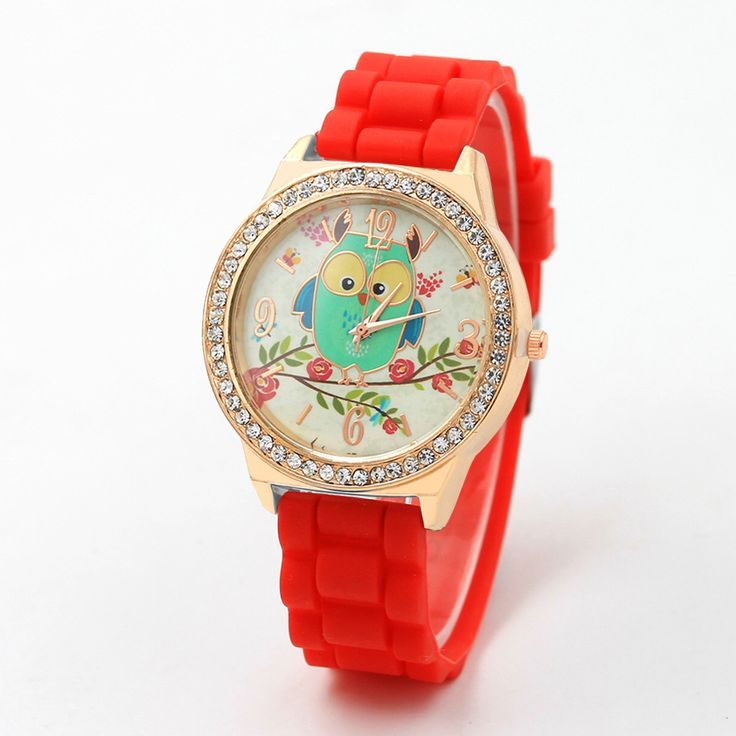New Arrival Diamond Branches Owl Women Watches Color Silicone Belt Causal Wristwatch Girls Clock reloj dama #Affiliate