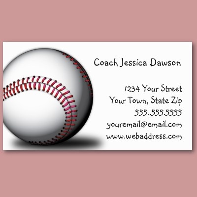 42 best customized business cards images on pinterest business softball baseball business cards colourmoves Choice Image