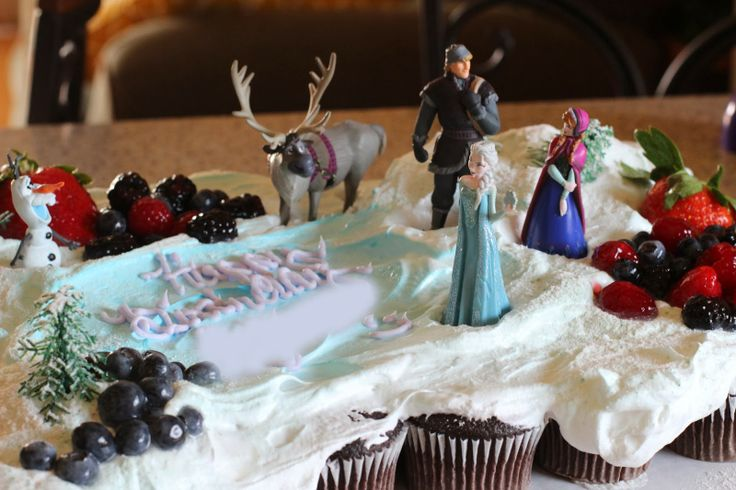 Frozen Birthday Cake:) Got the base at Safeway and all the figures are from Disney Store.