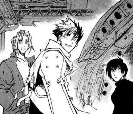 Group Of Vash And Meryl Kiss Manga