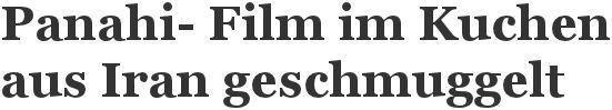 Der iranische Regisseur Jafar Panahi steht unter Hausarrest und durfte nicht zum Festival in Cannes. Doch sein neuer Film wurde in einem Kuc...