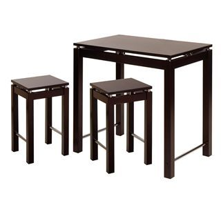 Check out the Winsome 92734 Linea 3 Piece Kitchen Island Set in Dark Espresso priced at $319.00 at Homeclick.com.