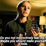 Veronica Mars wisecracks - Fear