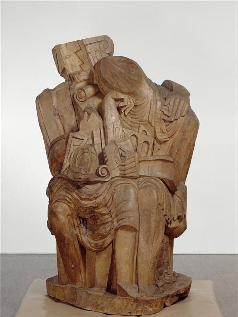 Ossip Zadkine, Homo sapiens, 1935, Wood, National Museum of Modern Art - Georges Pompidou Center, Paris