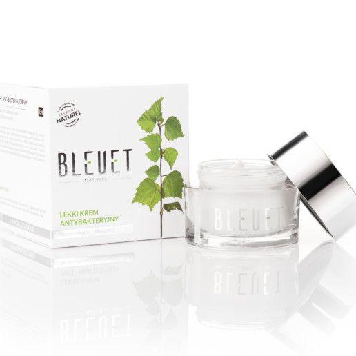 Lekki krem antybakteryjny do cery tłustej i mieszanej – Bleuet – Hypoalergiczne kosmetyki naturalne