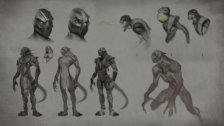 Mortal Kombat X Won't Feature Jade, Concept Art And Alternate Costumes Of Kitana And Reptile Revealed