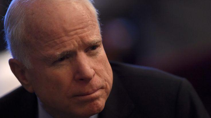 "U.S. Senator John McCain is interviewed during the 2017 ""Congress of Tomorrow"" Joint Republican Issues Conference in Philadelphia, Pennsylvania, U.S. January 26, 2017.  REUTERS/Mark Makela - RTSXK8W"