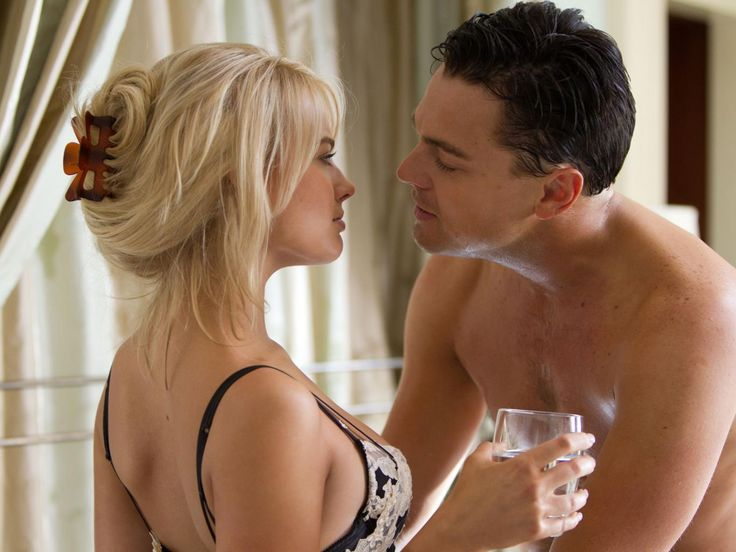 Margot Robbie and Leonardo DiCaprio in The Wolf of Wall Street
