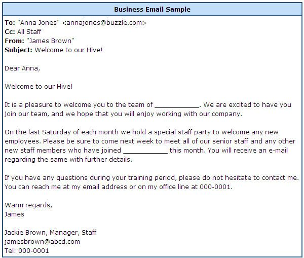 professional business email format