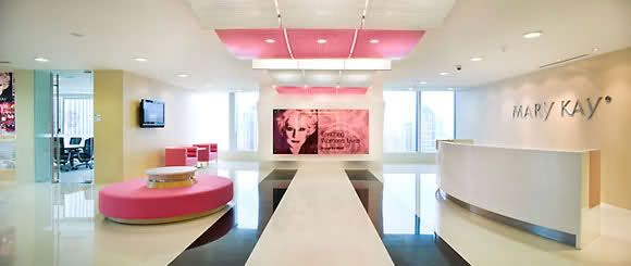 Mary Kay Modern Office Interior in Pink