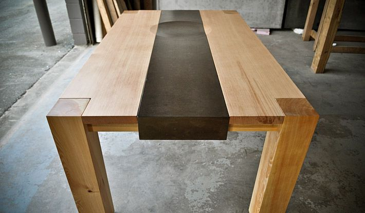 Great concrete/wood table from sticks-and-stones.ca near Vancouver, BC