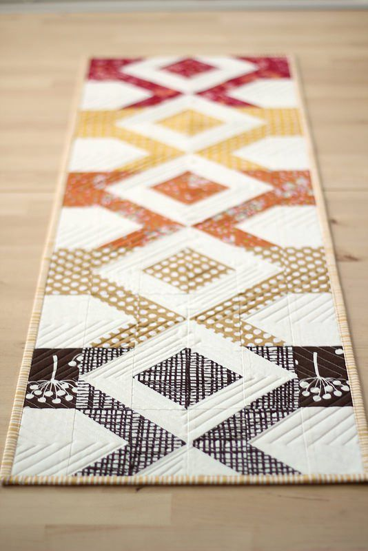 25 best images about fall on pinterest quilt designs for Table runner quilt design