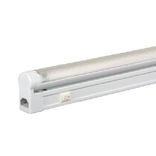 Jesco Lighting SG514SW50 Sleek Plus Classic Grounded 14Watt T5 Light Fixture 5000K Color White Finish With Switch -- Clicking on the VISIT button will lead you to find similar product