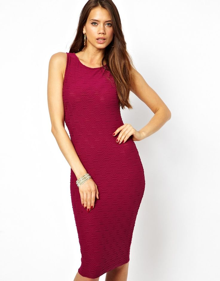 Burgundy Bodycon Dress by Lipsy. Buy for $25 from Asos