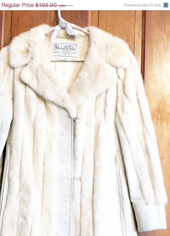 Mink Coat White Mink Leather Vintage Small Medium | Coats, Mondays ...