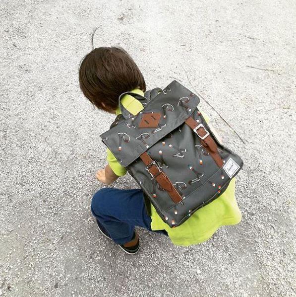 Weekend walks with our favorite Herschel Supply Co. bag! New designs available!! #herschel #herschelkids