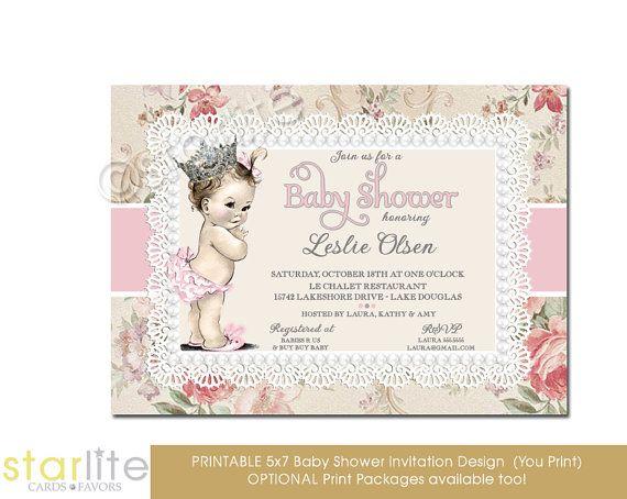 14 best princess baby shower invitations ideas images on pinterest girl baby shower invitation vintage baby girl by starwedd on etsy filmwisefo