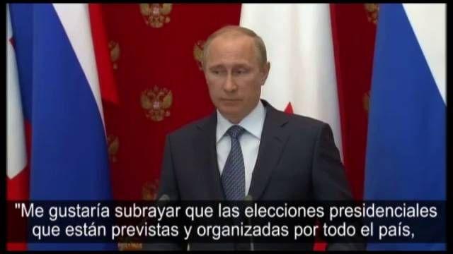 Vladímir Putin apoya las elecciones ucranias del próximo 25 de mayo | Internacional | EL PAÍS