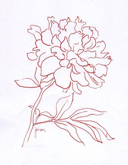 Как нарисовать пион, букет пионов красками или карандашом поэтапно?