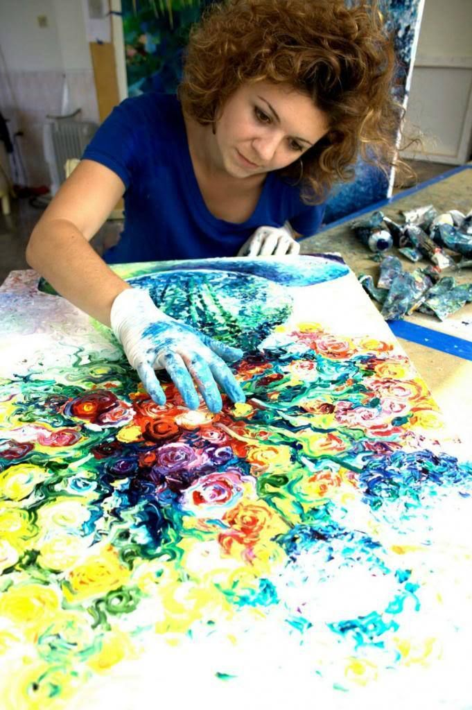 Finger painting is for toddlers, right? Wrong! Finger painting is for adults too. What if I told you, that you can actually make a living out of finger painting? Iris Scott is a Seattle-based paint…