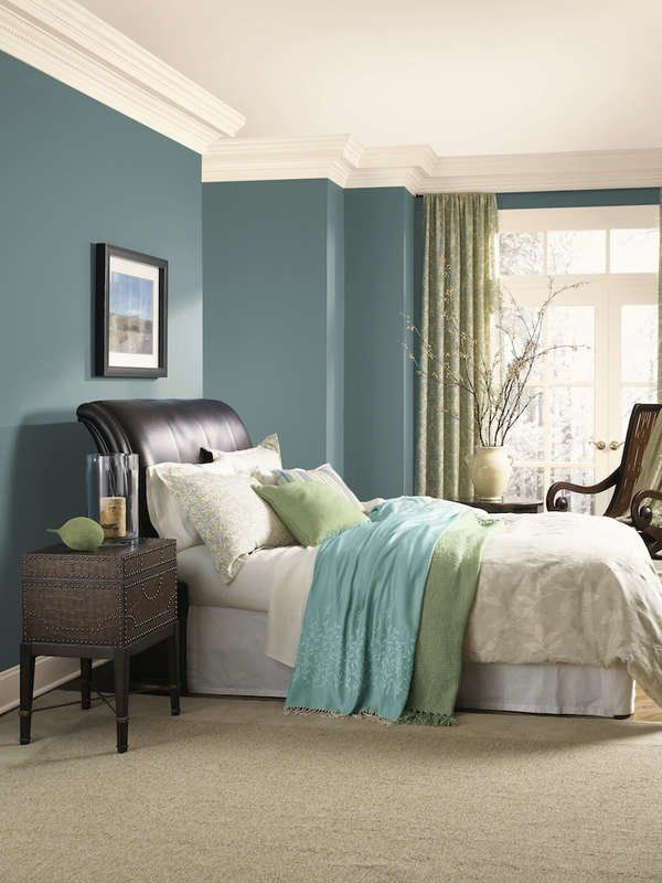 13 Reasons We Love Blue Bedrooms | Blue bedroom paint, Aqua ...